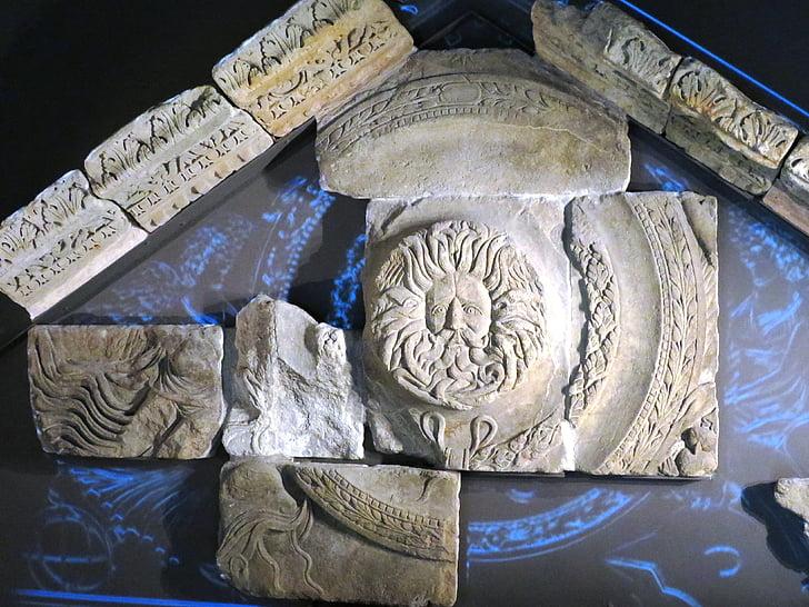roomalainen kylpy, helpotusta, Kylpyamme, Englanti, koristeet