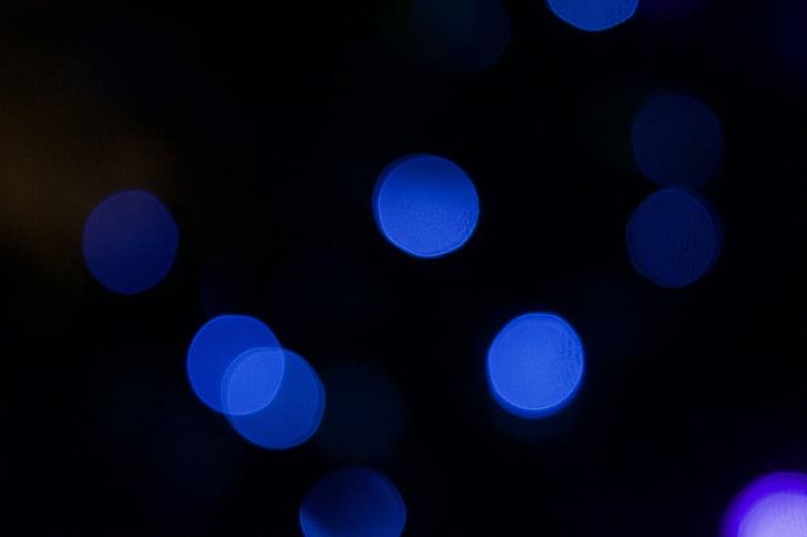 Bokeh, Tiivistelmä, tausta, Blur, tumma, sininen