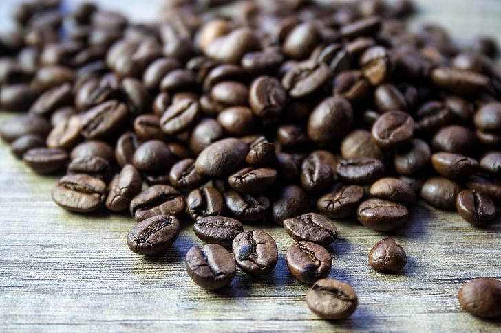 koffie, stapel, koffiebonen, roosteren, bruin, voedsel, Café