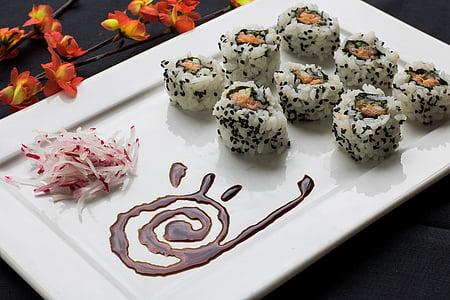 sushi, menjar japonès, japonès, combinat, aliments, oriental, gastronomia