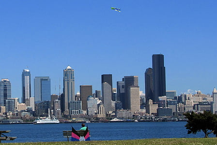 Seattle, nord-oest del Pacífic, passeig marítim, horitzó