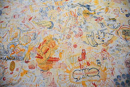grafiti, lukisan dinding, seni, warna-warni, Biennale, seni jalanan, seni perkotaan
