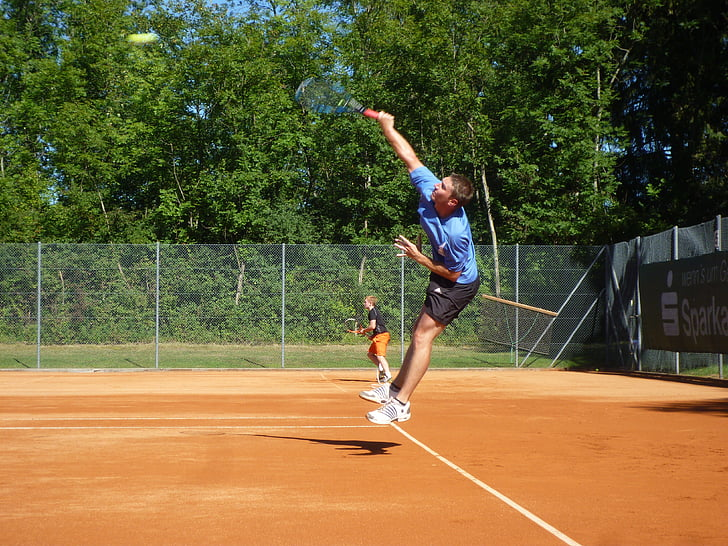 tennis, volley, sport, handlingen, sporty, bevegelse, ballen