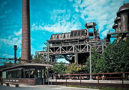 arquitectura, indústria, edifici de la fàbrica, edifici, metall, trencar, ruïnes