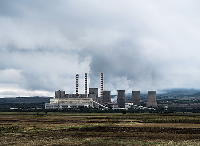забруднення повітря, Будівля, енергія, навколишнє середовище, фабрика, поле, викопного палива