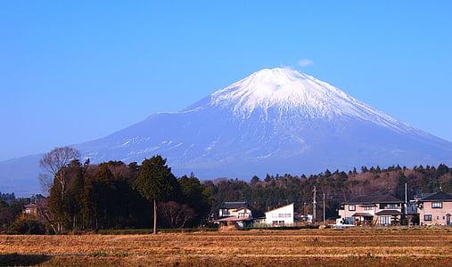 Gotemba, l'hivern, Prefectura de Shizuoka, monticle, neu, escalada, carretera