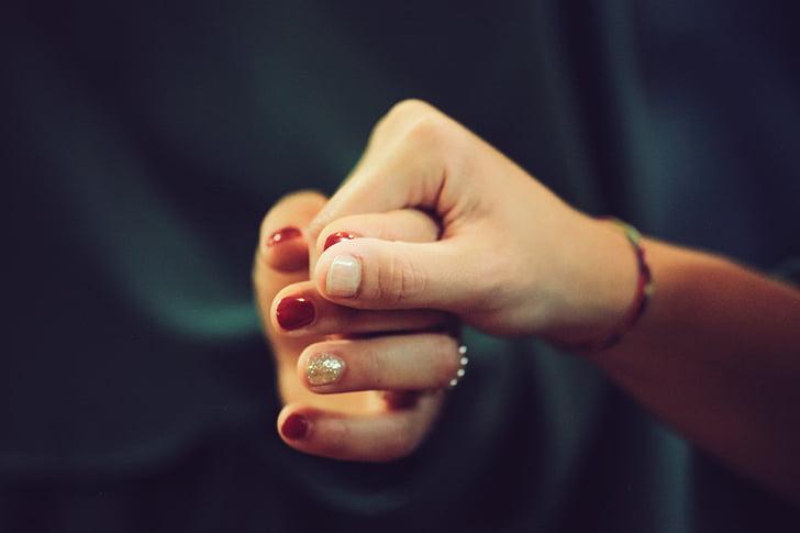 hands, nail, love, together, togetherness, holding hands