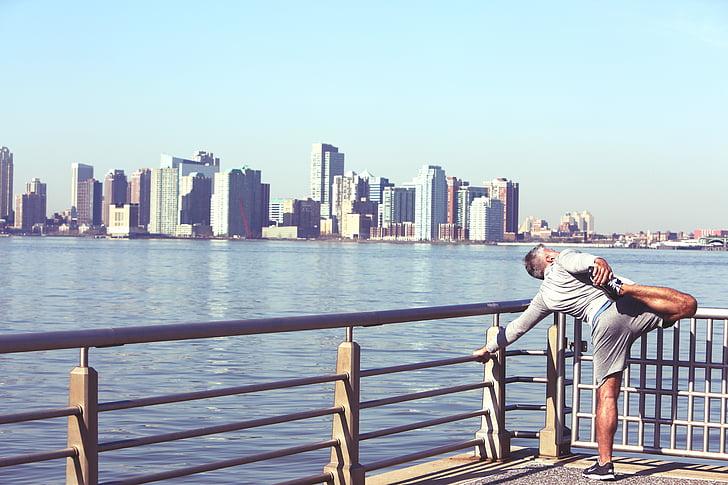 blau, edificis, ciutat, paisatge urbà, exercici, gimnàs, salut