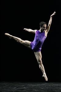 man, purple, ballet, shirt, fitness, Ballet, Dancer, Male