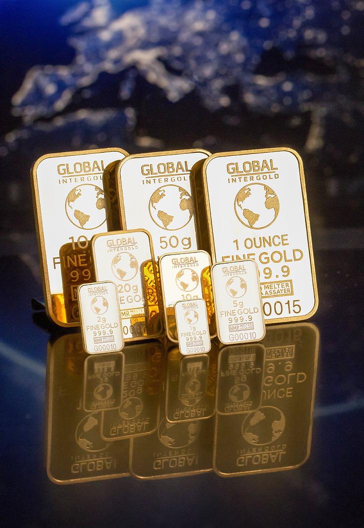 saavutamise, baarid, Suurendus:, Commerce, rahalised vahendid, ülemaailmne, kuld