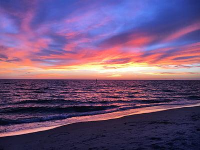 plage, coucher de soleil, coucher de soleil plage, océan, mer, Sky, sable