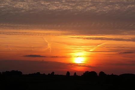 moln, Dawn, skymning, naturen, Utomhus, natursköna, siluett