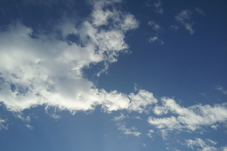 mėlynas dangus, paprastas, šviežios, dangaus mėlynumo, Debesis
