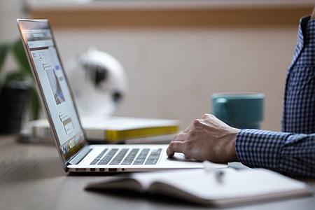 adult, entelar, negoci, comerç, comunicació, ordinador, connexió