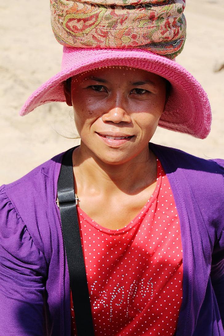portret, Bali, Kobieta, Indonezyjski, twarz, Charakterystyka