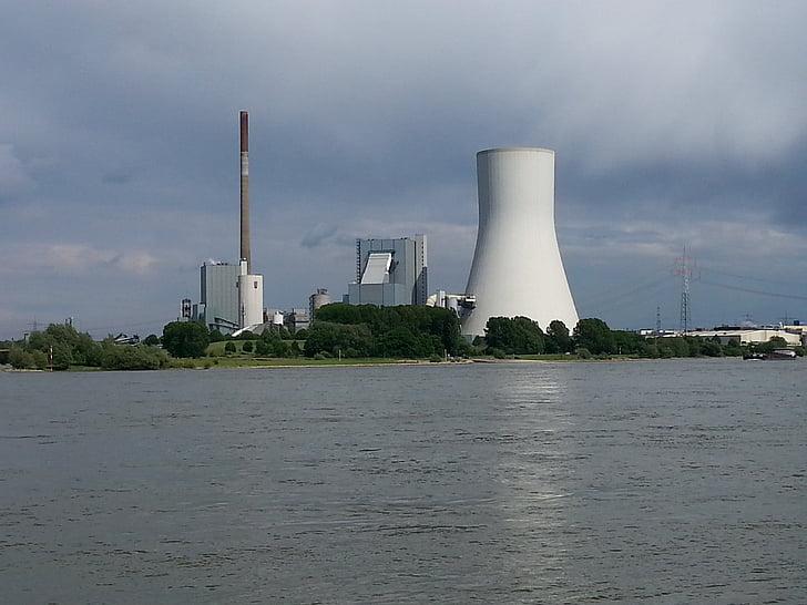 Duisburg, Walsum, Rein, vee, jõgi, elektrijaama, pruunsüsi
