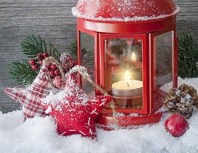 Ajunul Anului Nou, iarna, Crăciun, zăpadă, decor, Red, sărbătoare