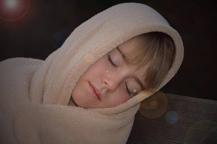 manusia, anak, Gadis, selimut, tidur