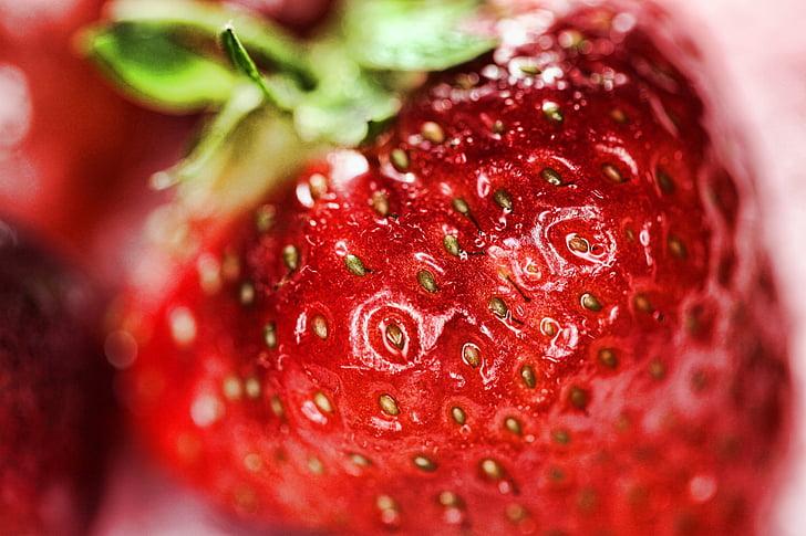 capsuni, fructe, produse alimentare, sănătos, proaspete, boabe, drag