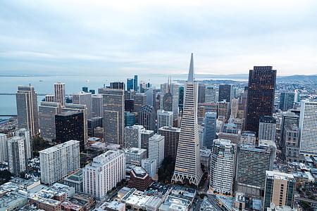 city, buildings, urban, sky, aerial view, metropolis, cityscape