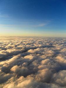 nebo, oblaki, na prostem, scensko, mirno, stratosferi, vzdušje