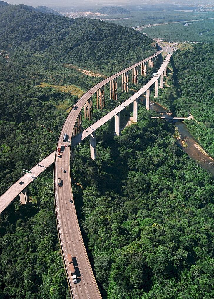 highway, road, aerial view, rodovia dos imigrantes, rodovia anchieta, brazil, autos