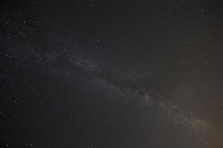 milky, way, stars, night, sky, space, astronomy
