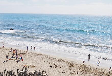 Группа, люди, пляж, дневное время, Семья, праздник, океан