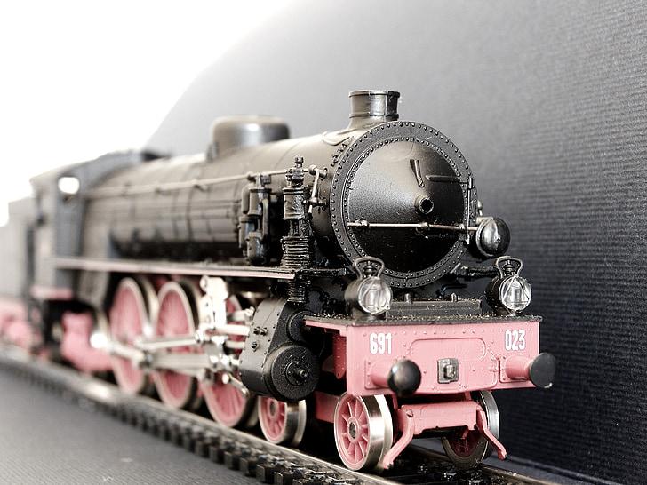 locomotive à vapeur, gr691, chemins de fer italiens, maquette, Rivarossi