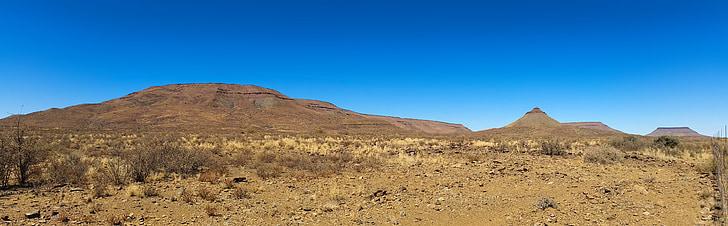africa, namibia, wilderness, landscape, black border, steppe, road