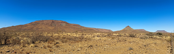 Àfrica, Namíbia, desert, paisatge, frontera negra, estepa, carretera