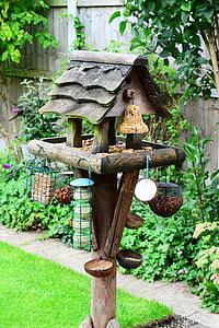 bird table, feeding station, bird food, garden, feeder, perch, bird house