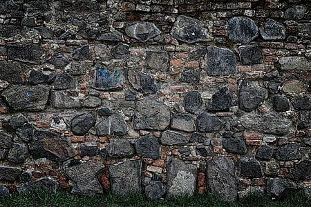 墙上, 砖, 石头, 背景, 纹理, 石头墙, 石头