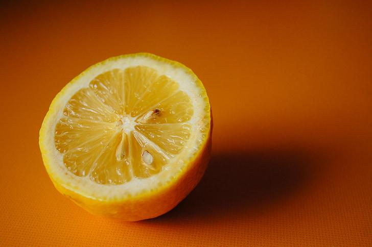 llimona, Agra, groc, fruita, aliments, vitamines