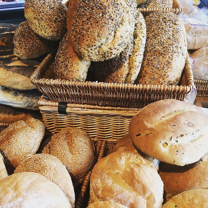 ūkio parduotuvė, organinių, šviežios, duona, vaisiai ir daržovės, maisto prekių, ūkininkas