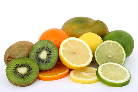 cítricos, Close-up, alimentos, frutas, saludable, Kiwi, limón