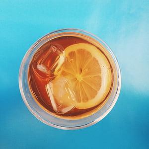 飲料, 冷, ドリンク, 食品, フルーツ, ガラス, 氷