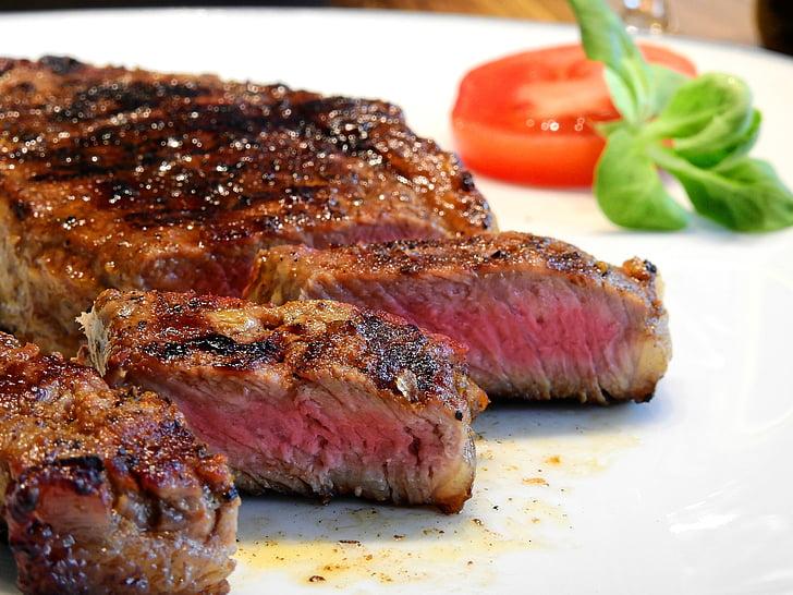 odrezak, meso, govedina, jesti, hrana, goveđi odrezak, ukusna