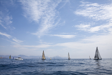 sea, sailboats, boats, regatta, cruises, sailing, sailboat