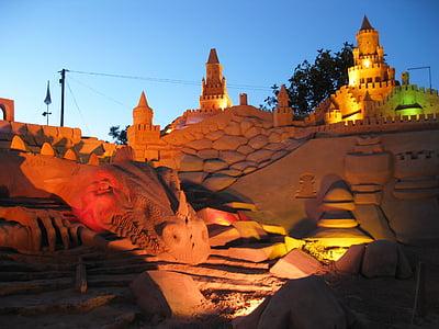 sandburg, fiesa, sand sculpture, sand, sculpture, art, artwork