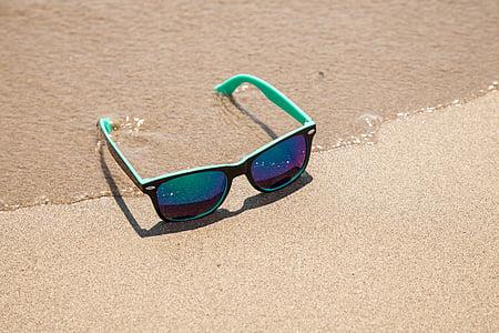 lunettes de soleil, protection contre le soleil, plage, vacances, été, mode, lunettes