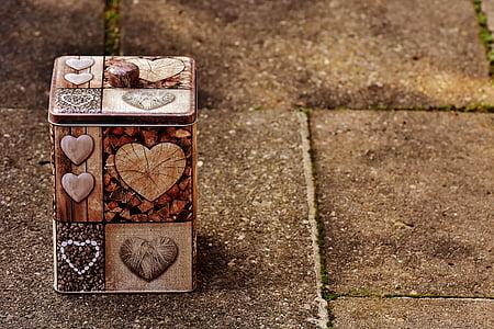kasti, südame, Armastus, ladustamine, pakend, pood, praktiline