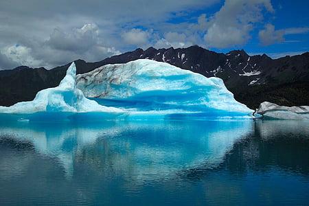 Glacier, maastik, Ocean, jää, lumi, vee, karu glacier