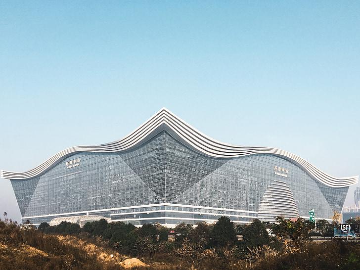 Centre Mundial, Chengdu, edifici, cel, el màxim, edifici sol