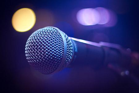 microphone, sound, music
