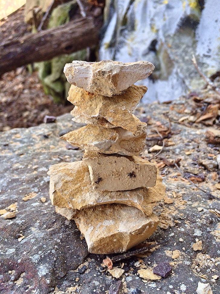 pierres empilées, roches, Balance, pile, Pierre, nature