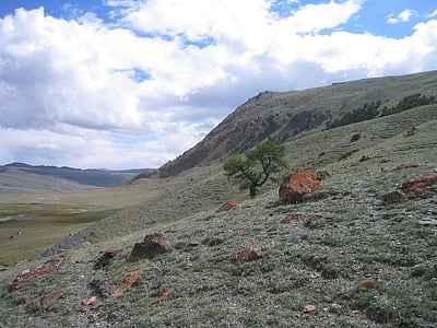 altai, valley, panoramic, rock, nature
