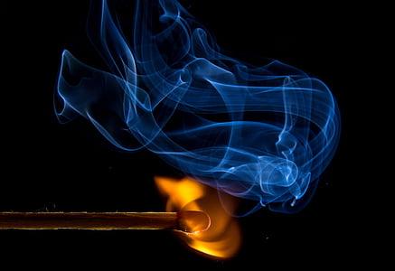 brand, overeenkomen met, vlam, Kindle, zwavel, lichter, overeenkomen met hoofd