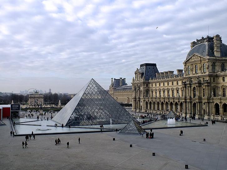 famous landmark, france, historic, landmark, louvre, musuem, paris