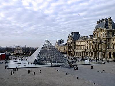 kuulsam maamärk, Prantsusmaa, Ajalooline, Landmark, Louvre, Musuem, Pariis